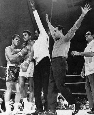 Muhammad Ali And Jerry Quarry Print by Underwood Archives