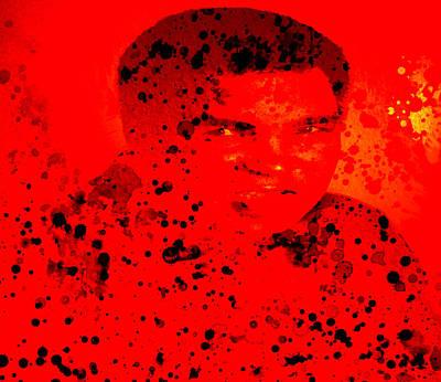 Joe Frazier Digital Art - Muhammad Ali by Brian Reaves