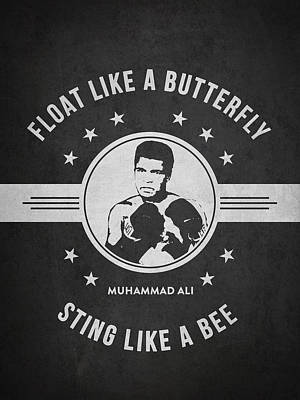Cassius Clay Drawing - Muhammad Ali - Dark by Aged Pixel