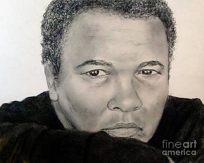 Muhammad Ali Drawings Drawing - Muhammad Ali Formerly Known As Cassius Clay by Jim Fitzpatrick