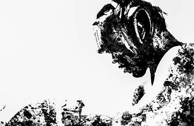 Joe Frazier Digital Art - Muhammad Ali Paint Splatter 1 by Brian Reaves