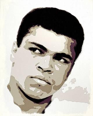 Boxer Painting - Muhammad Ali Poster Art by Florian Rodarte