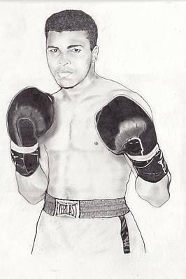 Boxer Digital Art - Muhammad Ali by Vincent Turner