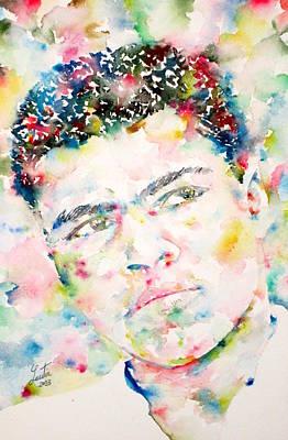 Muhammad Ali - Watercolor Portrait.1 Original by Fabrizio Cassetta