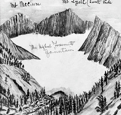 Yosemite National Park Drawing - Muir Yosemite, C1890 by Granger