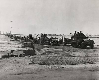 Mulberry Harbor Developed For The D-day Print by Everett