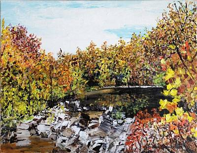 Arkansas Painting - Mulberry River In Fall Other View by Sharon  De Vore