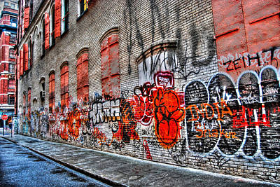 Mulberry Street Graffiti Print by Randy Aveille