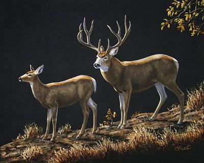 Mule Deer Ridge Original by Crista Forest