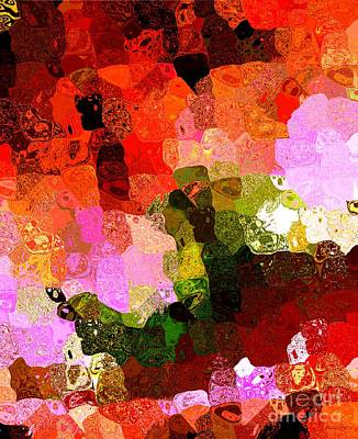 Multi Color Abstract Art Of Spots Print by Mario Perez
