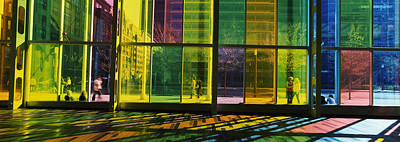 Quebec Photograph - Multi-colored Glass In A Convention by Panoramic Images