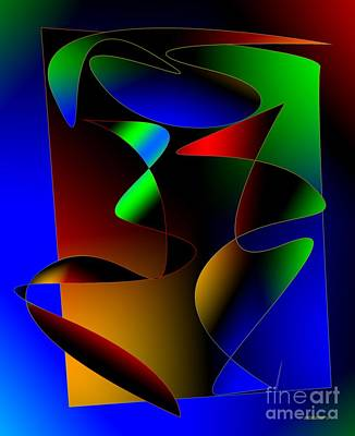 Complementary Digital Art - Multicolor Abstract Art by Mario Perez