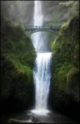 Waterfalls Mixed Media - Multnomah Falls by Heather L Wright