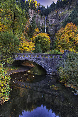 Multnomah From Afar Print by Mark Kiver