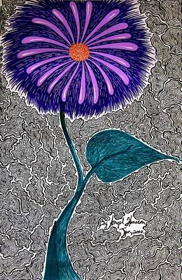 Drawing - Mum by Angela Hansen