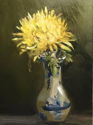 Still Life Painting - Mum In Vase by Linda Dunbar