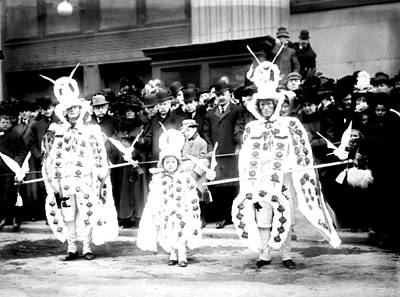 Mummers Circa 1909 Print by Digital Reproductions