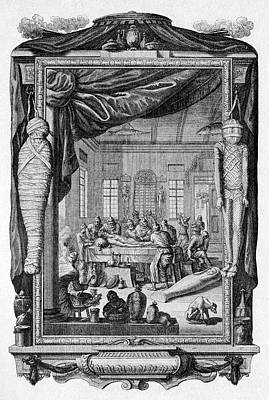 Mummy Embalming Print by Cci Archives