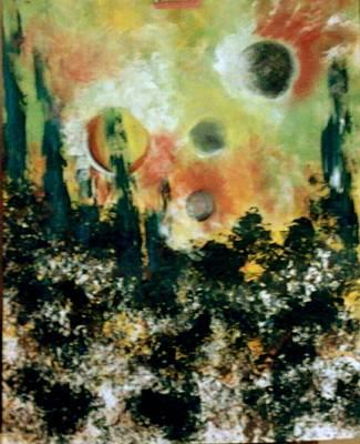 Abstracto Mixed Media - Mundos by Davileine Borrego