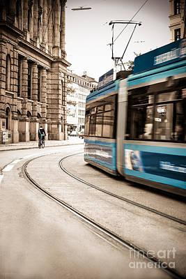 Munich City Traffic Print by Hannes Cmarits