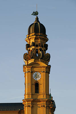 Bavarian Photograph - Munich Theatine Church Of St. Cajetan - Theatinerkirche St Kajetan by Christine Till