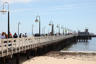 Santa Cruz Pier Photograph - Municipal Wharf At The Santa Cruz Beach Boardwalk California 5d23773 by Wingsdomain Art and Photography