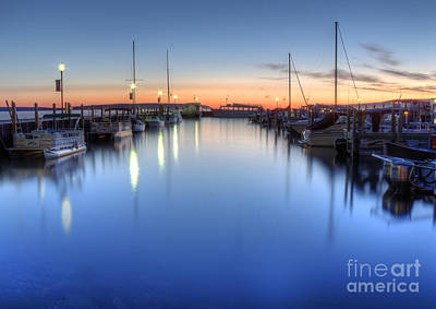 Munising Harbor At Sunrise Print by Twenty Two North Photography