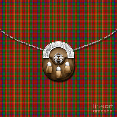 Munroe Digital Art - Munroe Tartan And Sporran by Chris MacDonald