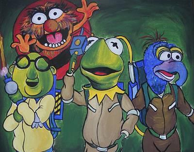 Muppets Painting - Muppet Ghostbusters by Lisa Leeman