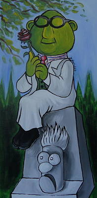 Muppets Painting - Muppet's Stretching Room Portrait 3 by Lisa Leeman