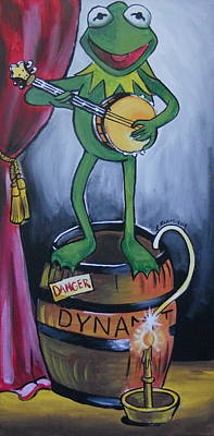 Muppets Painting - Muppet's Stretching Room Portrait 4 by Lisa Leeman