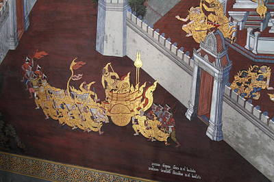 Mural Photograph - Mural - Grand Palace In Bangkok Thailand - 011310 by DC Photographer