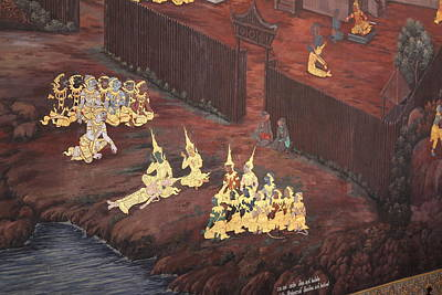 Mural - Grand Palace In Bangkok Thailand - 01136 Print by DC Photographer