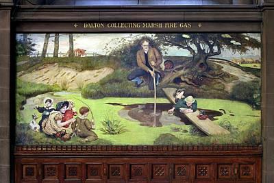 Mural Of John Dalton Print by Martin Bond