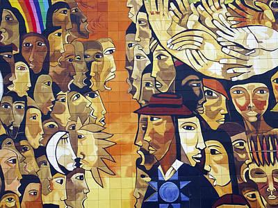 Mural Street Art Ecuador 3 Print by Kurt Van Wagner