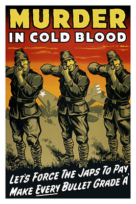 Murder In Cold Blood - Ww2 Print by War Is Hell Store