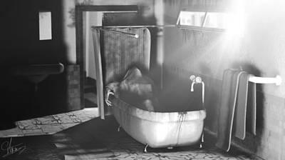 Murder In The Bath Print by Anton Egorov