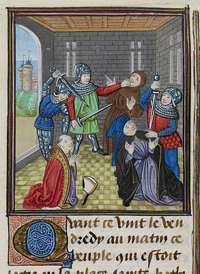 Uprising Photograph - Murder Of Simon Sudbury by British Library