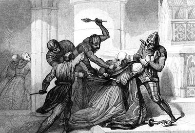 Murder Of Thomas Becket Print by Collection Abecasis