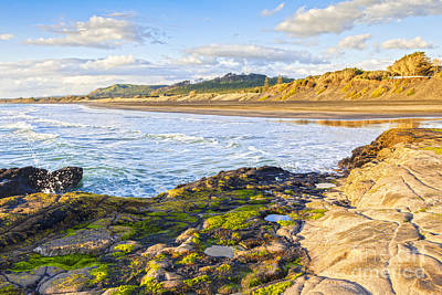 Muriwai Beach Auckland New Zealand Print by Colin and Linda McKie