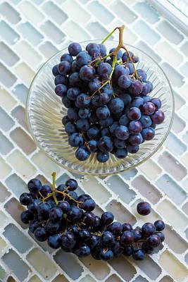 Bunch Of Grapes Photograph - Muscat De Hambourg Grapes by Aberration Films Ltd