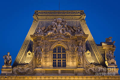Musee Du Louvre - Roof Print by Brian Jannsen