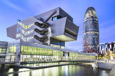 Hdr Photograph - Museu Del Disseny In Barcelona Catalonia by Marc Garrido