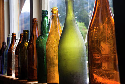 Antique Bottles Photograph - Museum Interior With Historical Tools by Micah Wright