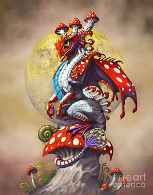 Fantasy Digital Art - Mushroom Dragon by Stanley Morrison