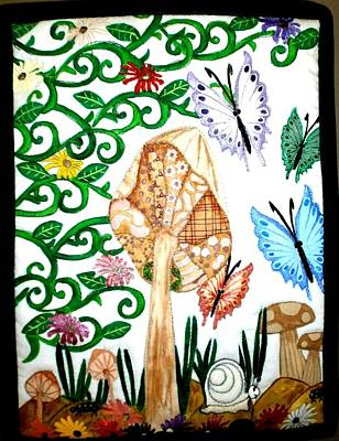 Mushroom Hunt Print by Linda Egland