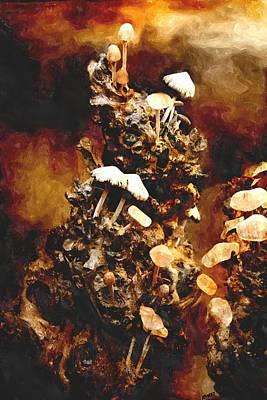 Mushroom Tree Print by Amanda Struz