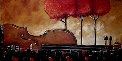 Violin Mixed Media - Music And Nature In Harmony by Vickie Warner