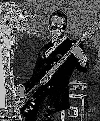 Taylor Swift Photograph - Bass Player Art Bw by Lesa Fine