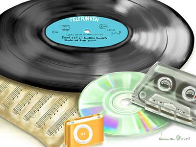 Music History Print by Veronica Minozzi